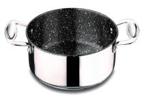 Mepra Glamour Stone 30212120 Casserole with Handle – Stainless Steel Cookware, Dishwasher Safe Kitchenware