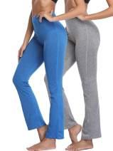 Neleus Women's Bootleg Yoga Pants Tummy Control High Waist Bootcut Pant