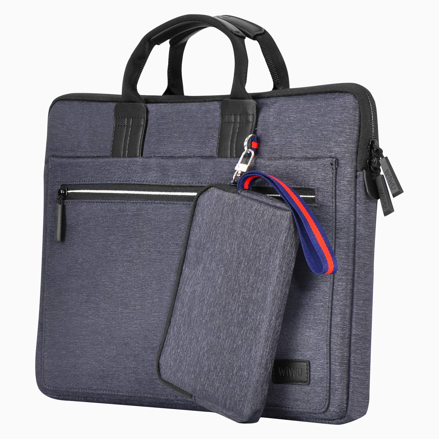 EXCPDT Laptop Sleeve Bag Compatible 14 Inch MacBook Pro, MacBook Air, Notebook, Slim Water Resistant Protective Carrying Case for Business Casual or School (Gray)