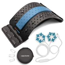 Back Stretcher For Lower Back Pain Relief and Mobile Phone Massager, Two devices in One Pack