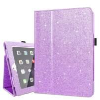 Fingic Case for iPad 3,iPad 4 Case,iPad 2 Case,Glitter Sparky Thin Case Smart Folio Case Cover with Auto Sleep/Wake Function Stand PU Leather Cover for iPad 2/3/4,Purple