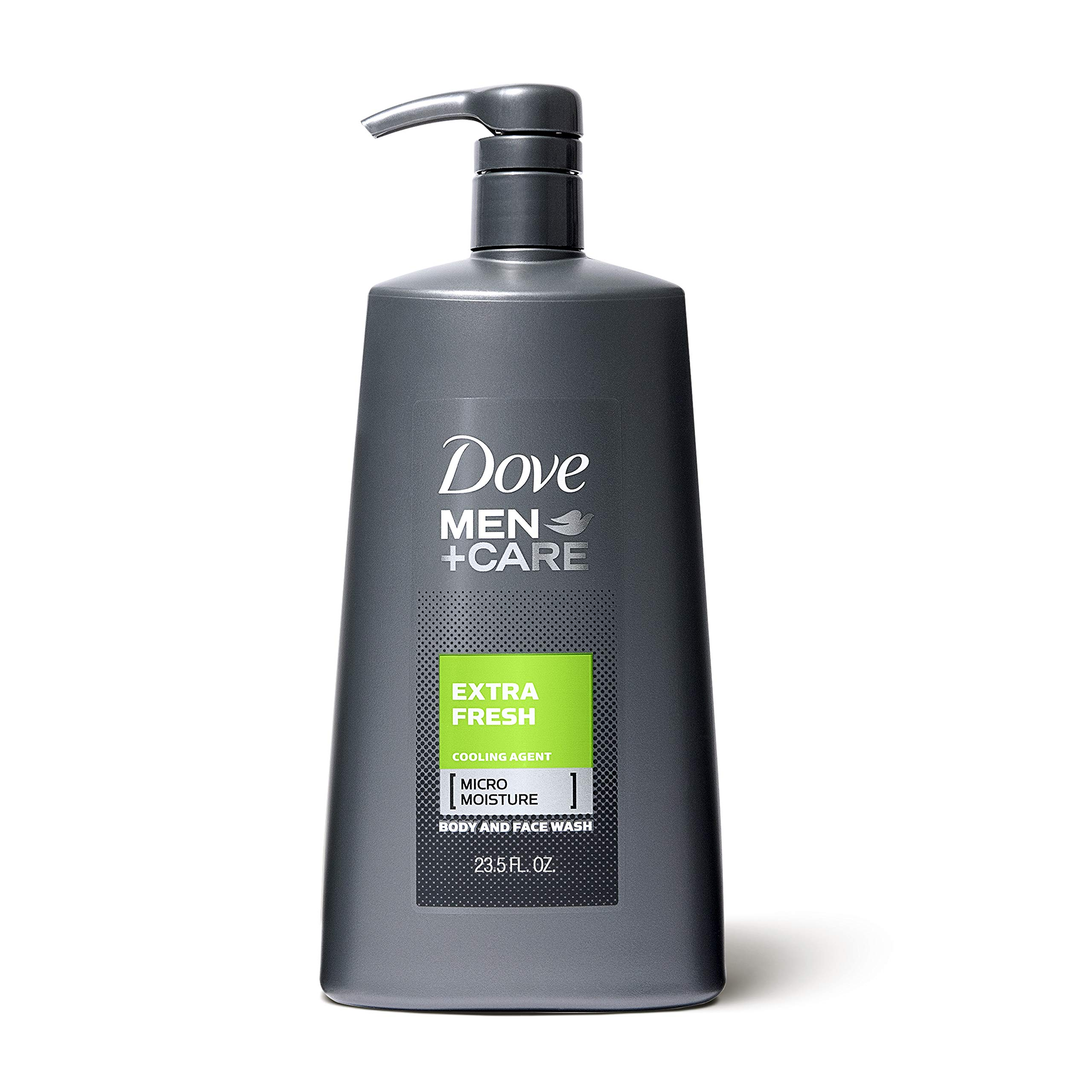 Dove Men+Care Body and Face Wash Pump for Dry Skin Extra Fresh More Moisturizing Than Typical Bodywash 23.5 oz