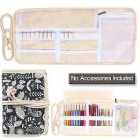 Damero New Canvas Crochet Hooks Wrap Knitting/Crochet Accessories Pouch Craft Tools Organizer Bag, Animal World-(Not Accessories Included)
