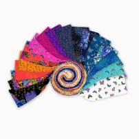 Clothworks Feline Frolic 2.5'' Strip Rolls Metallic 40 pcs