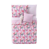 My World LHK-COMFORTERSET Llama Printed Twin XL 2-Piece Comforter Set, Twin/Twin