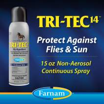 Farnam Tri-Tec 14 Fly Repellent for Horses, Contains Sunscreen, 15 Ounce Continuous Spray