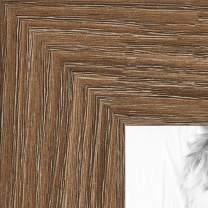 ArtToFrames 16x36 inch Medium Brown Oak - Barnwood Picture Frame, 2WOM76808-971-16x36