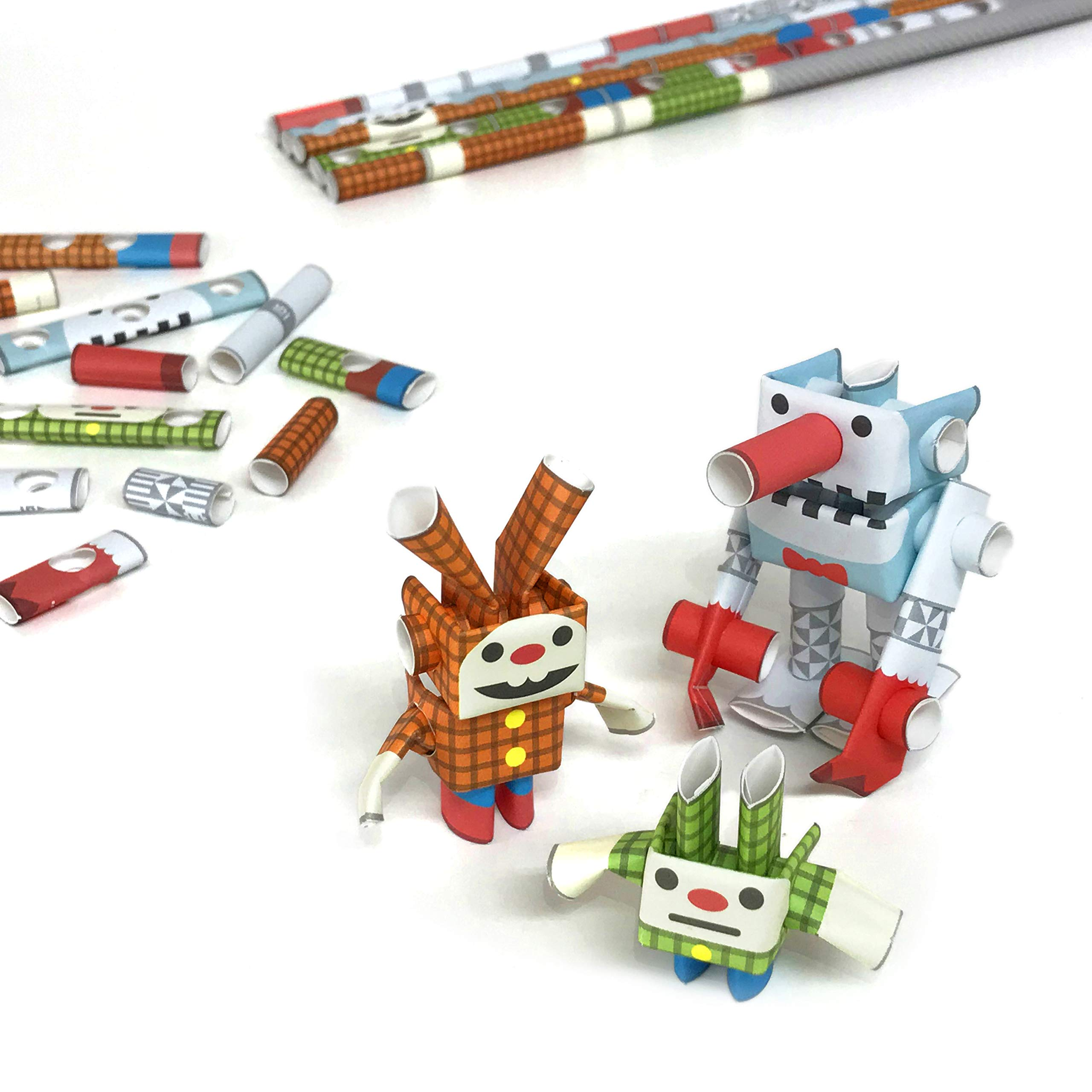 PIPEROID DIY Paper Craft Kit Snow Giant & Lop & Dwarf Snowman&Bunny - Japanese Arts and Craft Kit for Kids and Adults - Birthday Gift and Party Favor for 3D Puzzle and Origami Paper Craft Enthusiasts