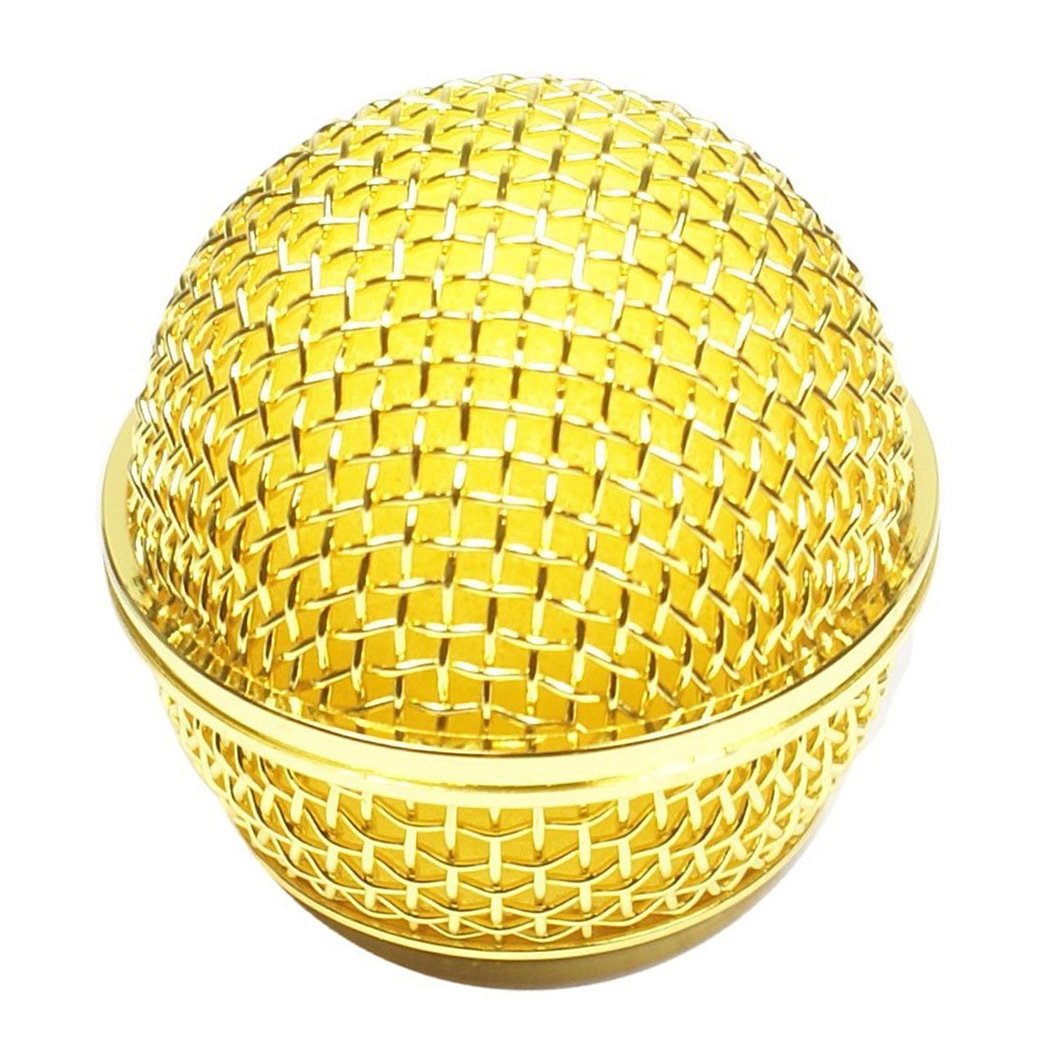 Performance Plus SM58 Style Gold Mesh OEM Replacement Microphone Grille (MB58-G)
