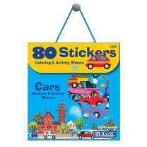 BAZIC Car Sticker Assorted Stickers, Cars Automobile Truck Toddler Kid Activity Learning Coloring Book, Reward Gift Fun Incentive for Kids Girls Boys (80/Bag)