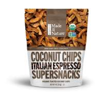 Made in Nature Organic Italian Espresso Toasted Coconut Chips, 9oz - Non-GMO Vegan Super Snack