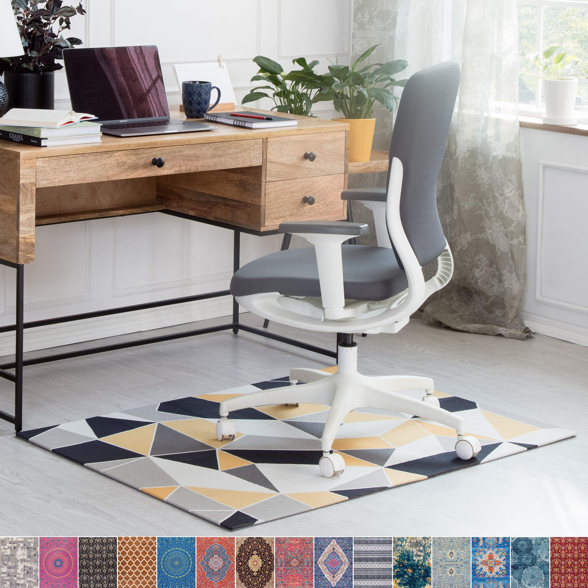 Anji Mountain Rug'd Chair Mat, 36 x 48-Inch, Abstract