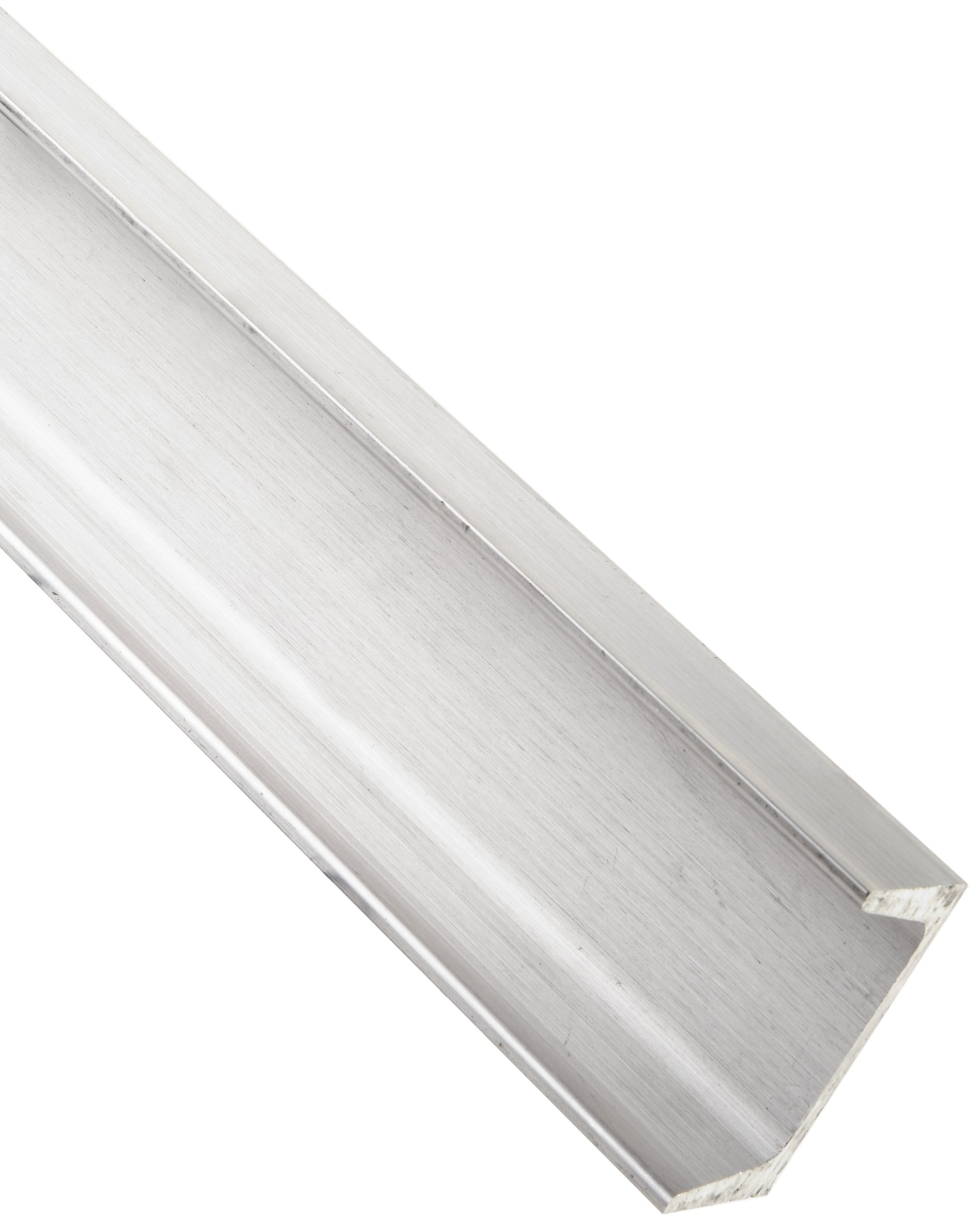 """6061 Aluminum U-Channel, Unpolished (Mill) Finish, Extruded, T6 Temper, AMS QQ-A-200/ASTM B221, Equal Leg Length, Rounded Corners, 0.15"""" Wall Thickness, 12"""" Length"""