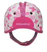SafeheadBABY Soft Helmet for Babies Learning to Walk - Butterfly Heart Pink