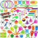 Max Fun Random Color Assortment Toys for Kids Birthday Party Favors Prizes Box(PACK OF 108) Toy Assortment Classroom
