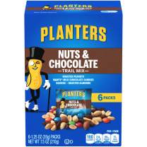 PLANTERS Nuts and Chocolate Trail Mix, 1.25 oz. Bags (6 Pack) - Trail Mix with M&M's Chocolate and Roasted Peanuts - Sweet and Salty Energy Boost - Kosher