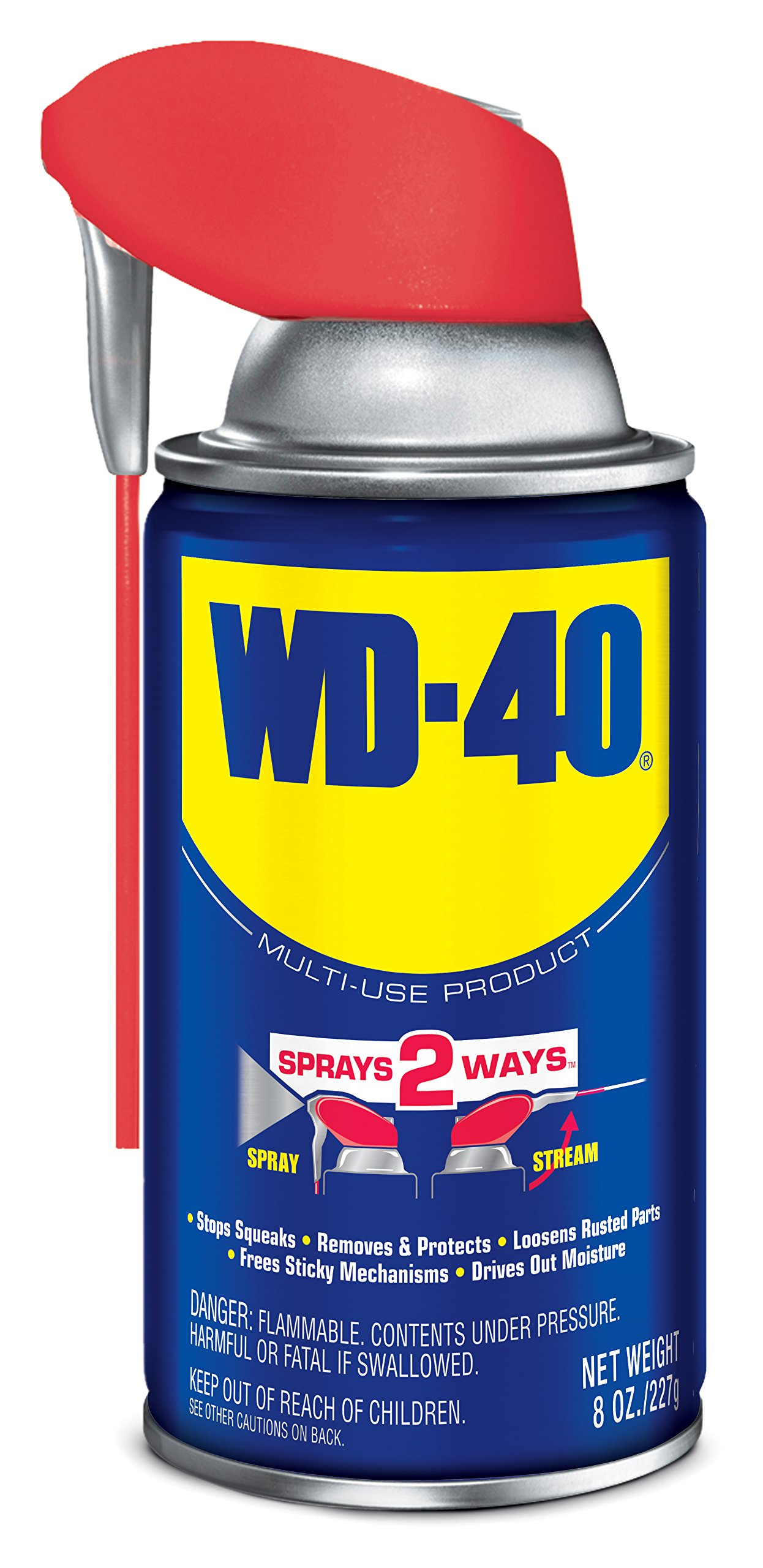 WD-40 Multi-Use Product - Multi-Purpose Lubricant with Smart Straw Spray. 8 oz. (12 Pack)