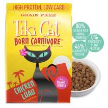 Tiki Cat Born Carnivore Grain-Free, Low-Carbohydrate Dry Cat Food Baked with Fresh Meat