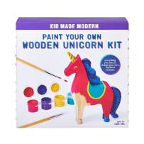 Kid Made Modern Paint Your Own Unicorn Kit - Wooden Sculpture Blank Canvas, Ages 3 and Up