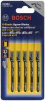 Bosch U19BO 5-Piece 2-3/4 In. 12 TPI Wood Cutting U-shank Jig Saw Blades