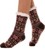 Womens Fuzzy Slipper Socks Warm Thick Heavy Fleece lined Fluffy Christmas Stockings Winter Socks