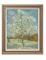 DECORARTS - The Pink Peach Tree, Vincent Van Gogh Art Reproduction. Giclee Print& Framed Art for Wall Decor. 30x24, Framed Size: 35x29