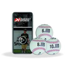Rukket Weighted Pitching Baseballs, Progression Throwing Balls for Training, Heavy Softballs for Hitting, Batting & Fielding Practice
