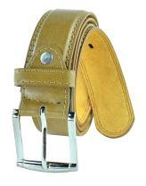 Men's Classic 1.5 Inch Wide Leather Dress Belt Formal Casual Belt by Moda Di Raza