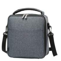 Lunch Bags Insulated Cooler Portable Lunch Box: For Work and School,Reusable Lunchbox with Adjustable Shoulder Strap, Water Resistant Tote Bag for Men Women