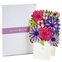 Hallmark Signature Paper Craft Flowers Displayable Bouquet Valentine's Day Card (Heart)