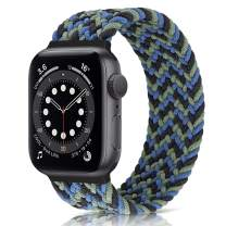AVOD Braided Solo Loop Watch Band Compatible for Apple Watch SE Series 6 Straps 40mm 38mm Elastic Nylon Straps for iWatch 6/SE/5/4/3/2/1 (Motley Blue, 38mm/40mm: #8 (171mm-178mm wrist))