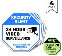 "Video Surveillance Sign Outdoor | No Trespassing Glow-in-The-Dark Large Warning Sign | 12""x12"" Aluminum 