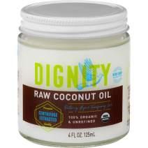 Dignity Coconuts Organic Virgin Coconut Oil, Centrifuge Raw, 4oz