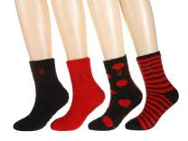 4-Pairs Womens Twin Boat Soft Anti-Skid Fuzzy Winter Socks, Set A3, 9-11