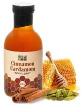 Green Jay Gourmet Cinnamon Cardamom Honey – Spicy Honey - Uses Raw Clover Honey, Organic Ceylon Cinnamon, Organic Cardamom – Cardamom & Cinnamon Honey – Small Batch Natural Honey – 17.6 ounces