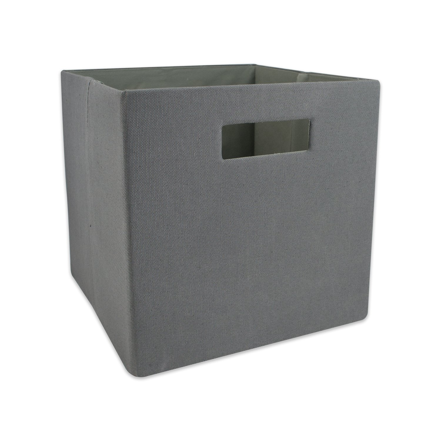 """DII Hard Sided Collapsible Fabric Storage Container for Nursery, Offices, & Home Organization, (11x11x11"""") - Solid Gray"""