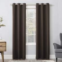 "Sun Zero Easton Blackout Energy Efficient Grommet Curtain Panel, 40"" x 63"", Cocoa Brown"