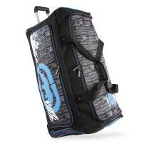 """Ecko Unltd. Men's Tagger 32"""" Rolling Duffel Bag, Black/Blue, One Size"""