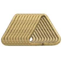 BIKICOCO 1-1/4'' Metal Triangle Ring Buckle Connectors Non Welded Round Edge Webbing Bag Clasp Handbag Strap Making Hardware, Bronze - Pack of 10