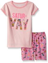The Children's Place Toddler Girls' Sleeve Top and Short Pajama Set