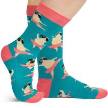 Lavley Dog & Cat Socks - Cute Designs for Women and Men - Gift for Animal Lovers (Corgis, Pugs, Dachshunds, Cats)