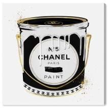 Oliver Gal 'Fashion Paint Noir' The Fashion Wall Art Decor Collection Modern Premium Canvas Art Print