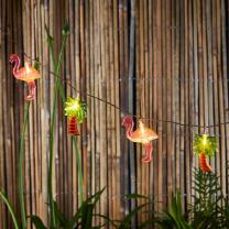 Lights4fun, Inc. 10 Flamingo & Palm Tree Battery Operated Indoor & Outdoor LED Party String Lights