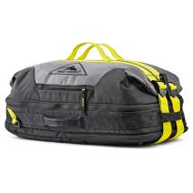 High Sierra Dells Canyon Convertible Backpack Travel and Gym Duffel Bag with Quick-Access Pockets for Phones, Wallets, and Keys - Features Dual-Expansion Compression Straps Mercury/Black/Glow
