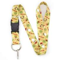 Buttonsmith Santa Premium Lanyard - with Buckle and Flat Ring - Made in The USA