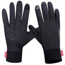 LANYI Winter Warm Gloves Touchscreen Windproof Anti-Slip Outdoor Cycling Work Snowboard Driving Black Gloves Men Women