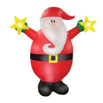 AIRFORMZ 7.5' Tall Santa, LED Lights, Christmas Inflatables, Outdoor Decorations, Inflatable Yard Decoration