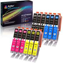 Arthur Imaging Compatible Ink Cartridge Replacement for Canon CLI251XL for use with PIXMA MX922 MG5520 (3 Black, 3 Cyan, 3 Yellow, 3 Magenta, 12-Pack) - CLI251(12)