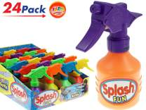 JA-RU Water Spray Bottles Squirters (24 Units with Display Box) Toy Game Squirt Water Gun Super Powerful and 1 Collectable Bouncy Ball. | Item #865-24p