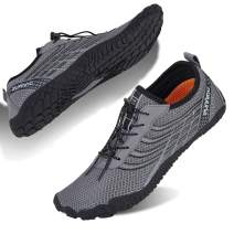 WateLves Men's and Women's Water Shoes | Barefoot Trail Runner | Wide Toe Box (F-Gray, 41)